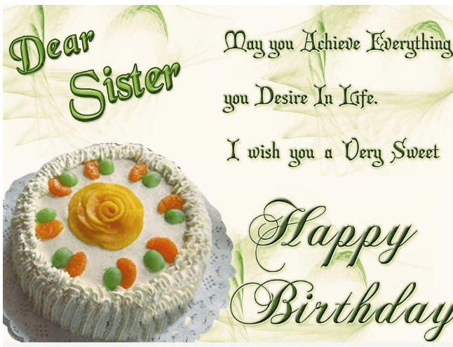Birthday Wishes for Dear Sister