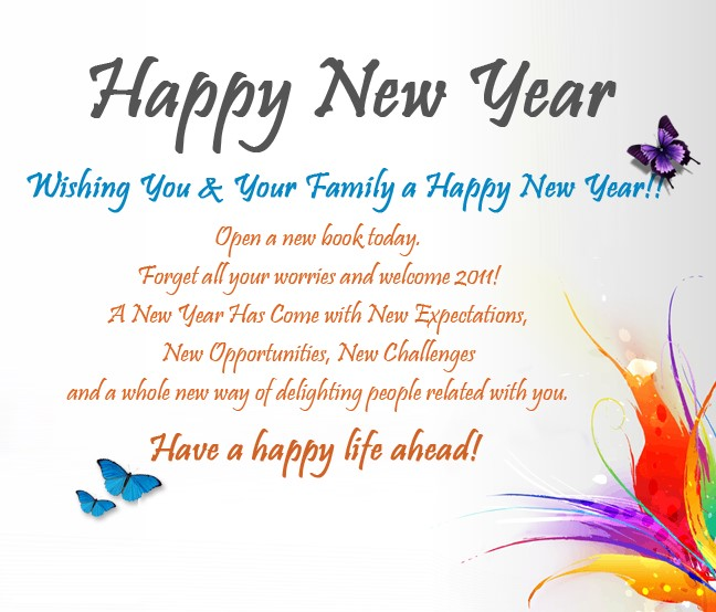 New Year Messages For Family 2021