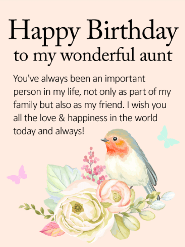 Birthday Wishes For Aunty