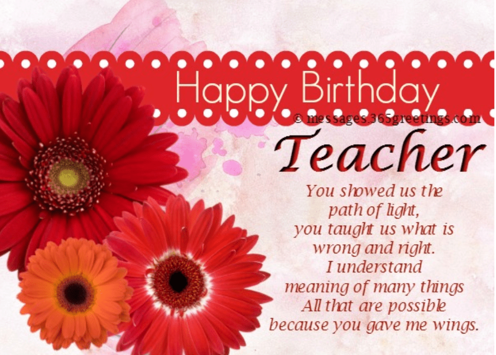 Birthday Wishes For Teachers 2020