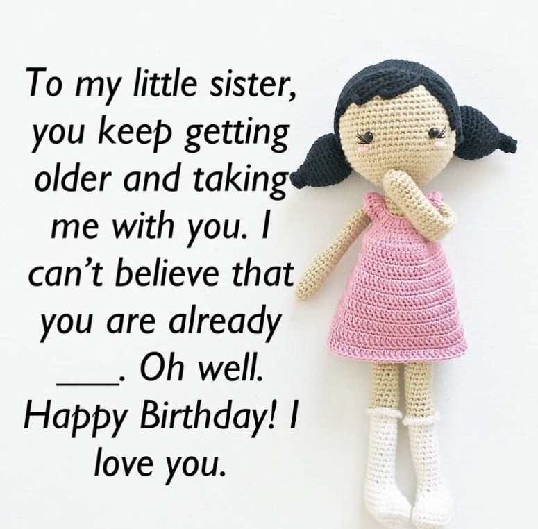 Birthday wishes for little sister 4